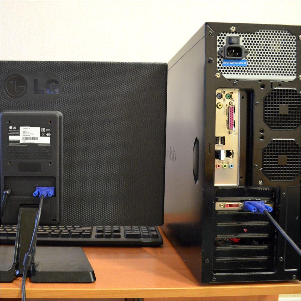 Подключение видеокарты и компьютера